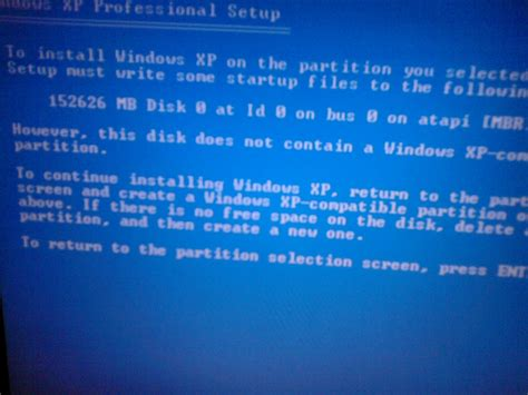 xp setup error drive letter how to fix quot this disk doesn t contain a