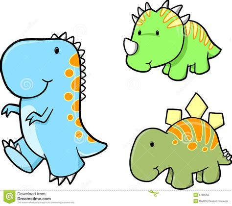 Conjunto Del Vector Del Dinosaurio Del Bebé Foto de