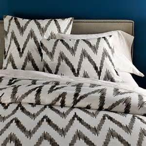 chevron duvet cover organic chevron duvet cover shams west elm