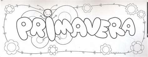dibujos para cartel fichas infantiles cartel de la primavera para colorear