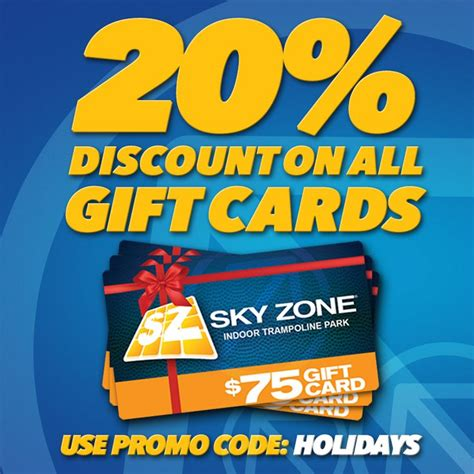 Skyzone Gift Cards - get the perfect holiday gift a sky zone gift card get 20 off all gift cards when