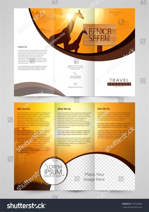 nature brochure template or flyer design stock creative travel trifold brochure template flyer stock