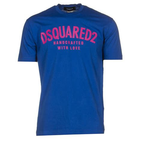 Handcrafted T Shirts - dsquared t shirts handcrafted in royal blue