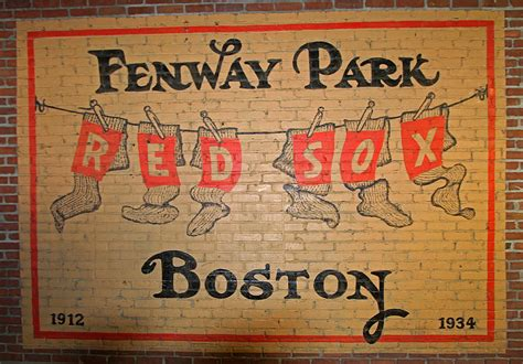 Fenway Park Wall Mural boston fenway park vintage sign photograph by juergen roth