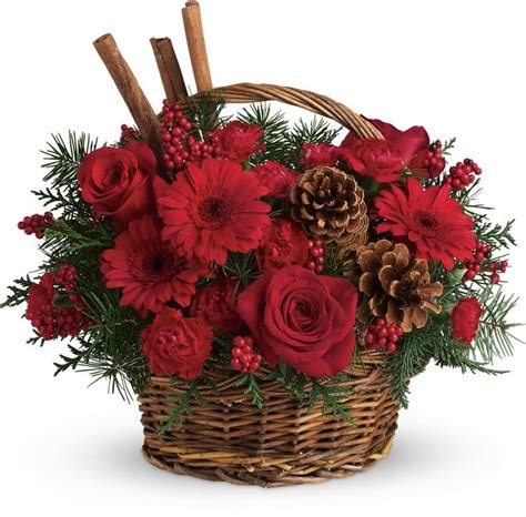 christmas centerpieces delivered flower basket essex florist with free delivery