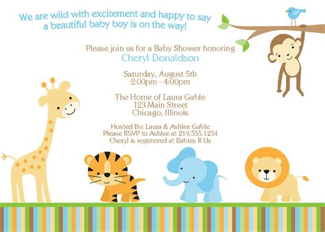 jungle invitation template a baby shower don t forget the invitations free