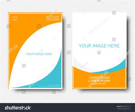 empty creative annual report template blue stock vector