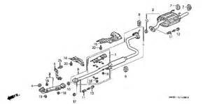 Diagram Of Exhaust System For Honda Civic Honda Store 1998 Civic Exhaust Pipe Parts