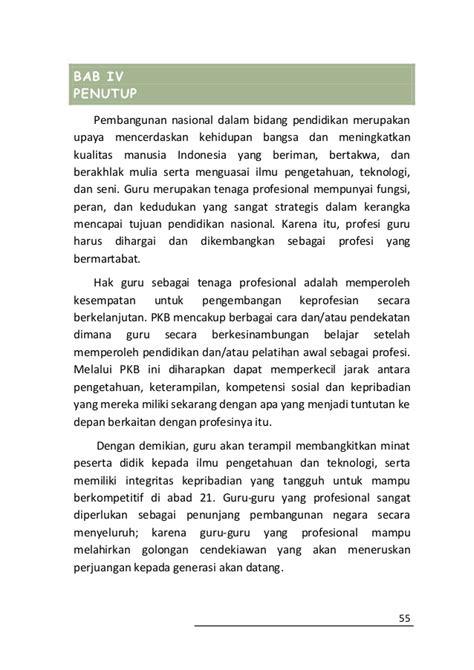 format 1 hasil evaluasi diri terhadap kompetensi guru buku pedoman pengembangan profesi guru