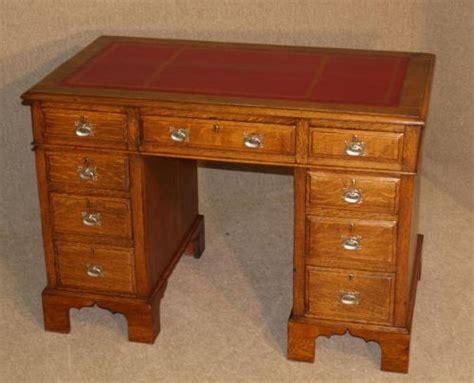 Antique Oak Writing Desk by Antique Oak Pedestal Writing Desk Circa 1900 223564