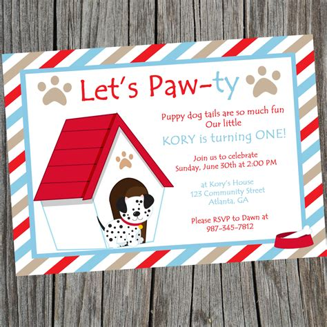puppy invitations puppy invitation puppy birthday invitation puppy