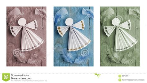 Handmade Paper Decorations - handmade decorations paper on wooden