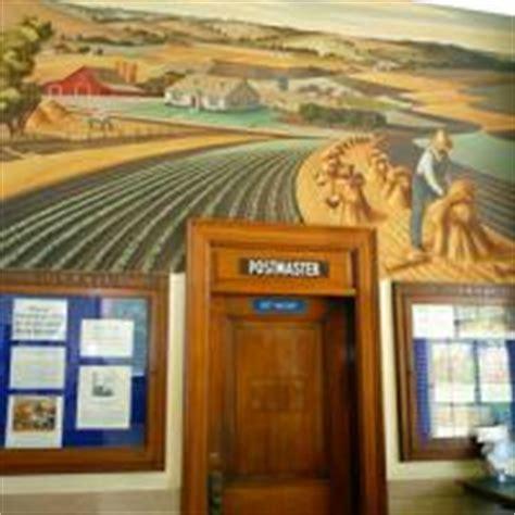 Farmersville Post Office by U S Post Office Mural Lakes Trail Region