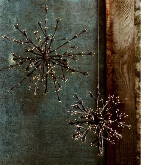 lighted twig snowflakes so cute and a great idea dare i