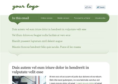 cool html email templates 40 cool email newsletter templates for free