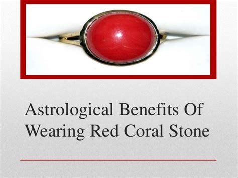 astrological benefits of wearing coral