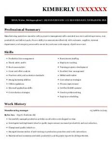 Production Line Leader Sle Resume by Production Line Leader Resume Exle Technicolor Detroit Michigan