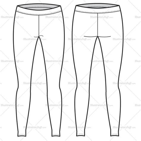 illustrator pattern to outline women s leggings fashion flat template illustrator stuff