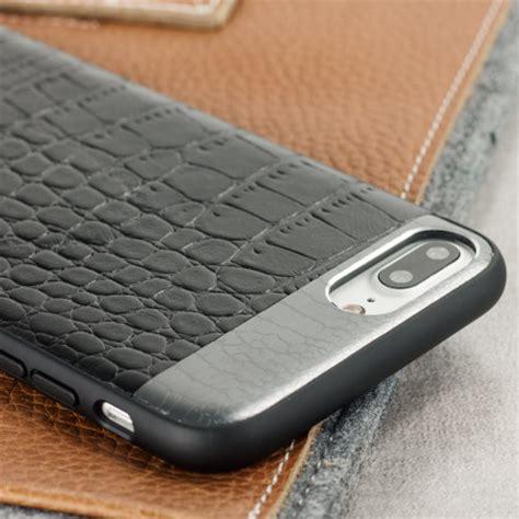 Leather Black Iphone 7 croco2 genuine leather iphone 7 plus black