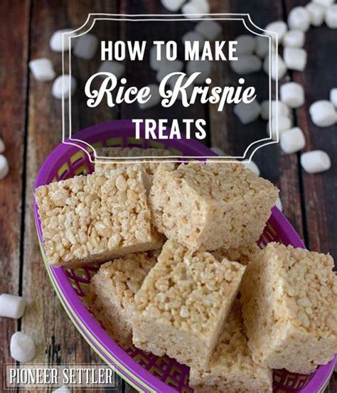how to make treats how to make rice krispie treats