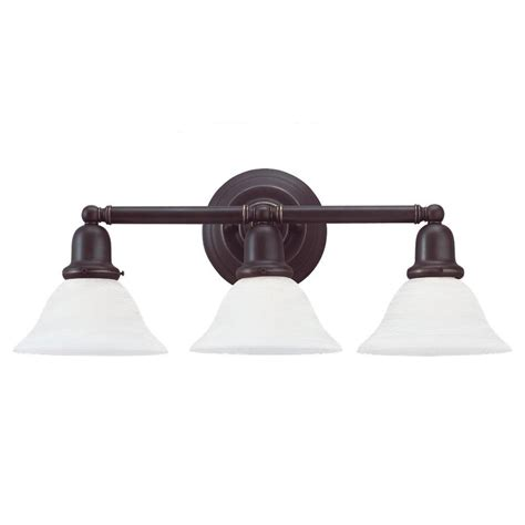 Bronze Vanity Light Fixture Sea Gull Lighting Sussex 3 Light Heirloom Bronze Vanity Fixture 44062 782 The Home Depot