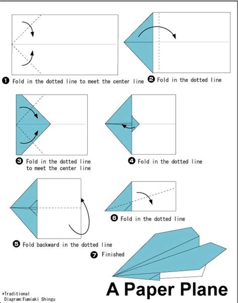 Steps For A Paper Airplane - special interest area a variety of simple origami paper