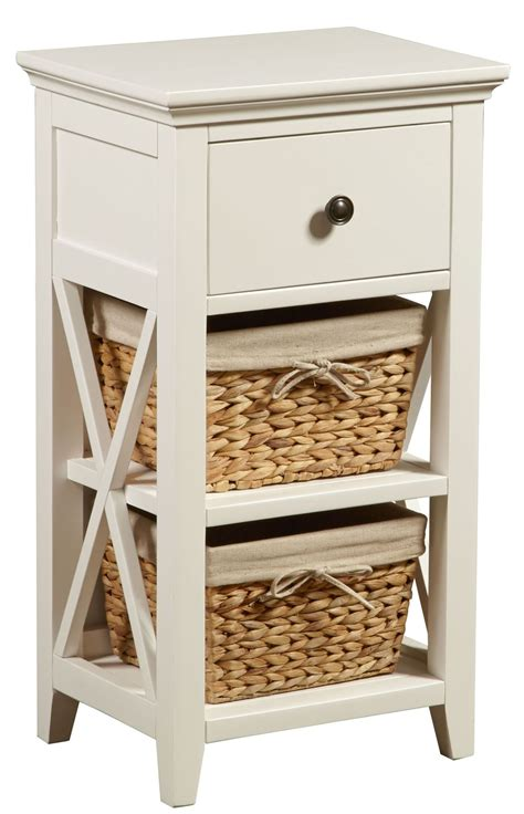 Bathroom Storage Baskets White White Linen Basket Bathroom Storage From Pulaski Coleman Furniture