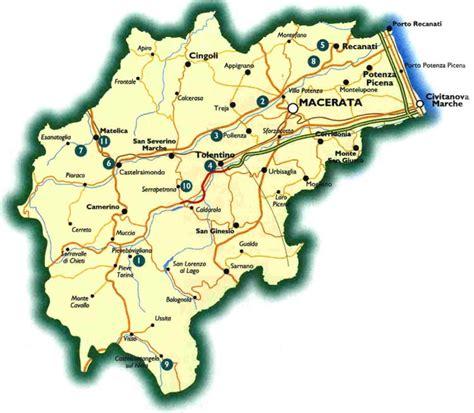 provincia di macerata cartine geografiche cartina marche ascoli