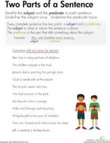subject and predicate worksheet worksheet education com