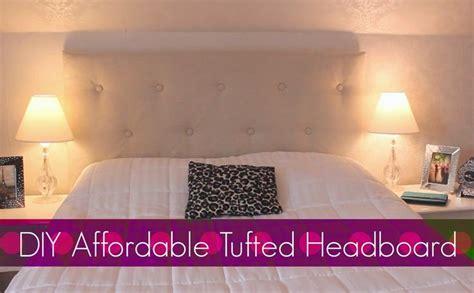 diy easy affordable tufted headboard bedroom decor she