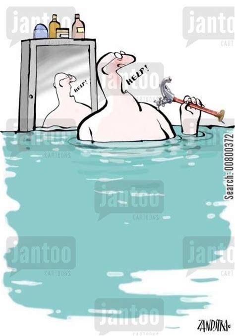 flooding bathroom domestic flooding cartoons humor from jantoo cartoons
