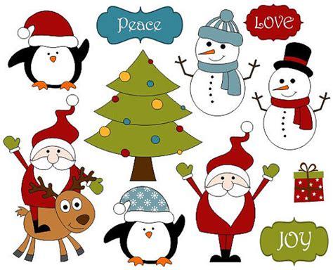 studio decor holiday clip decoration clip scrapbook clipart santa tree snowman