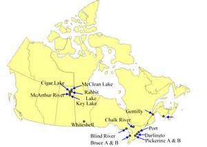 nuclear plants in canada map canada 2011