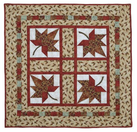 quilt in a day autumn leaves eleanor signature quilt