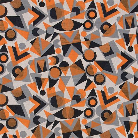pattern orange grey colourdrome st jude s fabrics papers