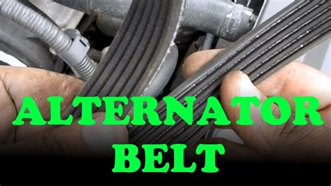 alternator power steering belt replacement toyota camry