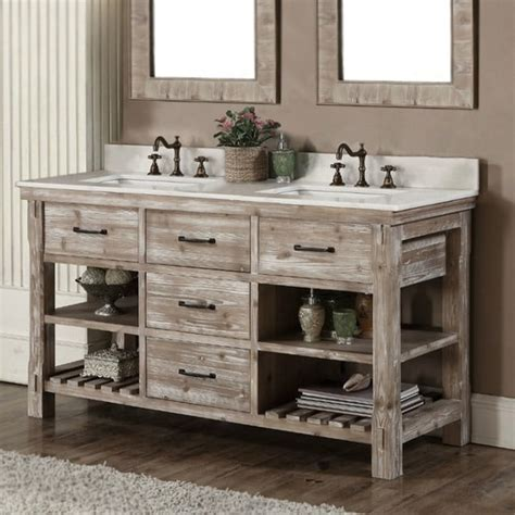 rustic style 60 inch double sink bathroom vanity free