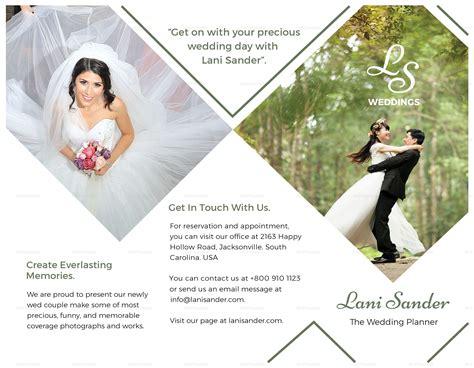 Wedding Planner Brochure Template by Wedding Planner Brochure Design Template In Psd Word