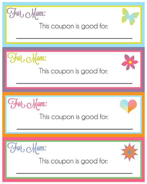 printable love coupons for mom 20 gorgeous mother s day printable gifts tags and cards