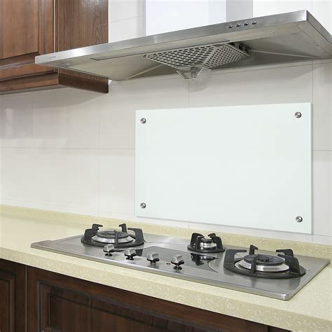 stove splash guard neu haus glass kitchen back wall 70x50cm mat stove