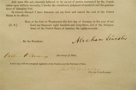 abraham lincoln biography emancipation proclamation historic abe document nets 2m ny daily news