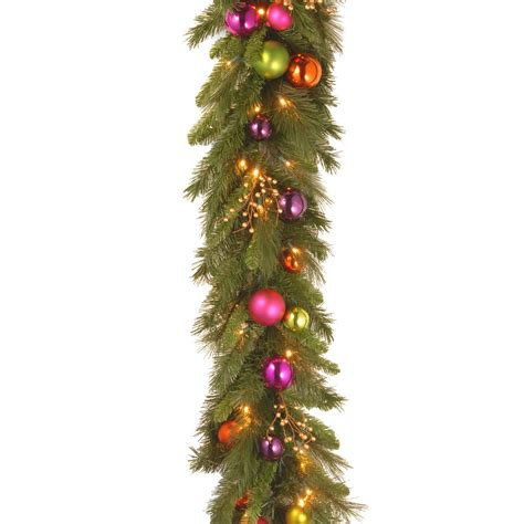 battery pre lit garland 6 ft kaleidoscope led pre lit battery operated garland