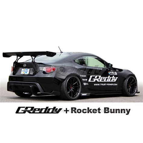 rocket bunny brz greddy rocket bunny v1 aero kit with gt wing toyota 86