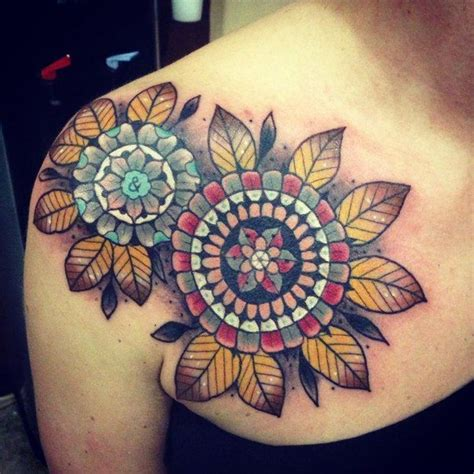 tattoo pain yahoo colorful mandala style shoulder tattoo inked for life