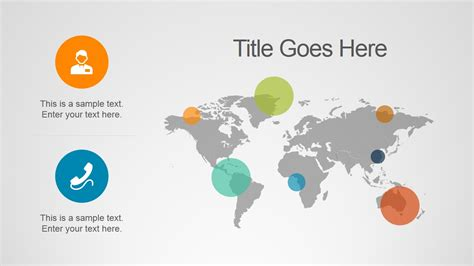 Business Insights Powerpoint Template Slidemodel World Map Template Powerpoint