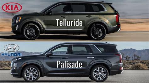 2020 Hyundai Palisade Vs Kia Telluride by 2020 Kia Telluride Vs Hyundai Palisade 2020