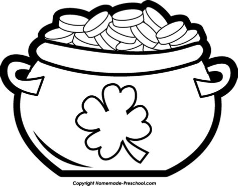 pot of gold rainbow coloring pages