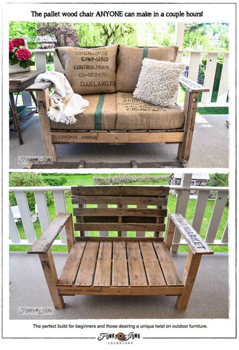 cool pallet wood chair      couple