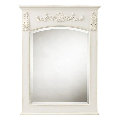 home decorators collection mirrors home decorators collection chelsea 32 in h x 22 in w wall mirror in antique white 1590410410