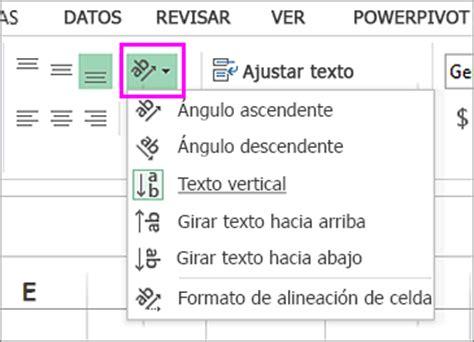 alineacion html imagenes y texto girar o alinear texto en una celda soporte de office